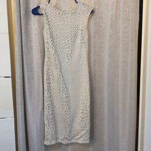 Enfocus cream dress with gold